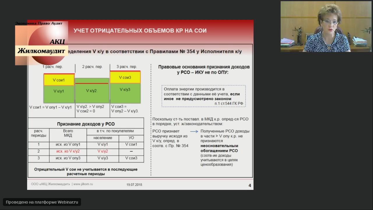 Учет отрицательных ОДНов в расчетах между УО и РСО по договору ресурсоснабжения на содержание общего имущества ( Веб-семинар - 19 июля 2018 года)
