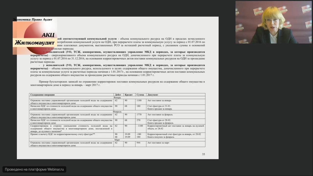 Бухгалтерский учет и налогообложение отдельных операций в ресурсоснабжающих организациях в 2018 году( Веб-семинар от 14 февраля 2018)